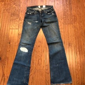 Distressed Lucky brand bootcut jeans